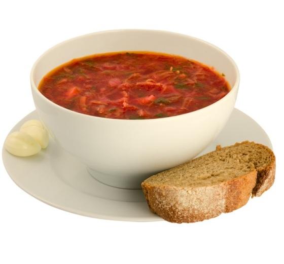 Borsch Soup and Bread